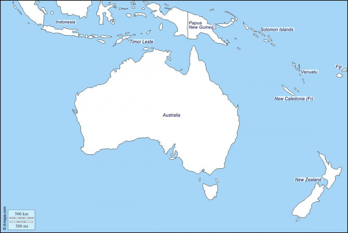 Nya Zeeland Karta Utkast Utkast Karta Over Australien Och Nya