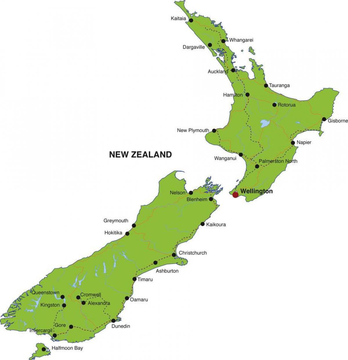 Australien Karta Lander.Nya Zeeland Stater Karta Karta Over Nya Zeeland Lander Australien