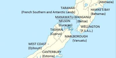 Australien Karta Lander.Nya Zeeland Karta Kartor Nya Zeeland Australien Och Nya Zeeland